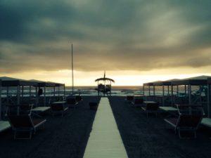 Bragozzo passerella tramonto