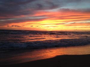 Bragozzo tramonto sul mare